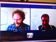 Virtual Justin Yeakel (UC Merced) and Virtual Marcus de Aguiar (Unicamp) at NIMBioS