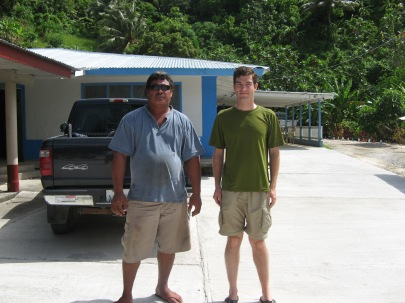 With Pita Ili (American Samoa Department of Marine and Wildlife Resources), Ofu, 2009