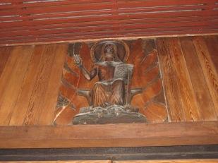 Jesus and breadfruit, Église de Notre-Dame-des-îles-Marquises, Nuku Hiva, Marquesas Islands, 2007