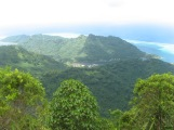 Huahine viewed from Mt. Turi, Society Islands, 2008
