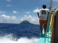 Approaching Me'eti'a, Society Islands, 2008