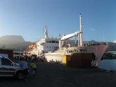Boarding the Tahiti Nui on Tahiti for the three day journey to Rapa, 2008