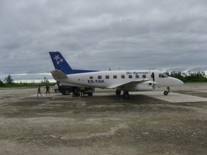 Air Rarotonga plane, Atiu, Cook Islands, 2008