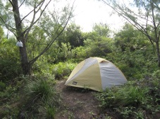 Camp on Te Mēhani Rahi Plateau, Ra'iatea, Society Islands, 2008