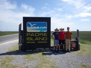 Josh (UA), Alec (UA, now Duquesne), and David at Padre Island National Seashore, Texas