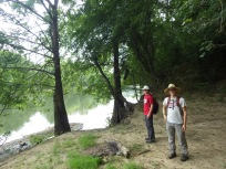 Alec (UA, now Duquesne) and Josh (UA) at Little River NWR, Oklahoma