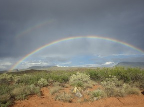 Rainbow over the San Andres Mountains, Jornada Experimental Range, New Mexico