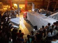 Ferry unloading in Haikou, Hainan, China