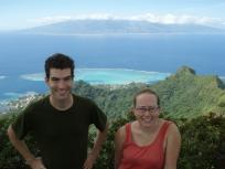 With Erica Spotswood (UC Berkeley), Mou'aputa, Mo'orea, Society Islands, 2008