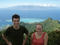 With Erica Spotswood (UC Berkeley), Mou'aputa, Mo'orea, Society Islands, 2008