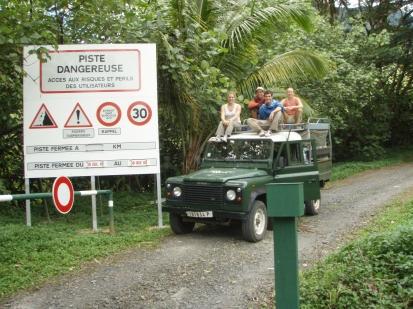 Colleen, Rava, David, and Erica, Vallée de Papeno'o, Tahiti, Society Islands, 2008